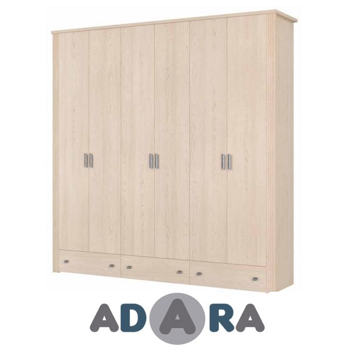 ארון בגדים 6 דלתות ו 3 מגירות MDF בעיצוב מיוחד