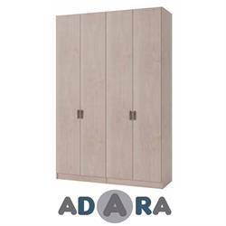 ארון בגדים 4 דלתות MDF ברוחב 1.6 מטר