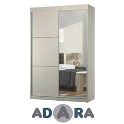 ארון הזזה שתי דלתות עם דלת מראה