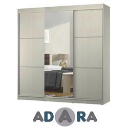ארון הזזה שלוש דלתות כולל דלת מראה