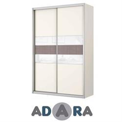ארון הזזה שתי דלתות ברוחב 1.6 מטר MDF עם זכוכית לקובל